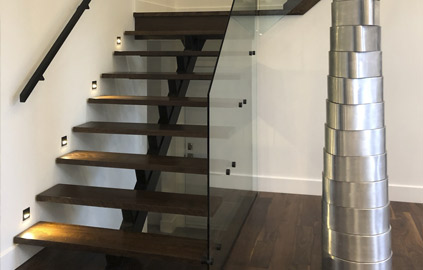 Interior railings and staircases