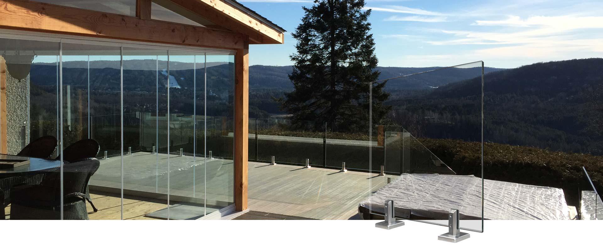 bandeau rampes en verre - Rampes et balcons St-Sauveur