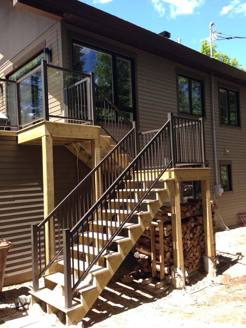 Escaliers 6 rampes balcons for Escalier balcon exterieur