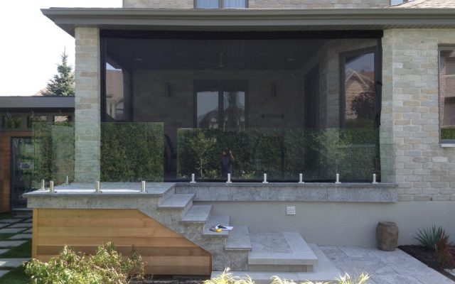 Rampes en verre - Rampes et balcons St-Sauveur