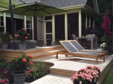 patio en bois