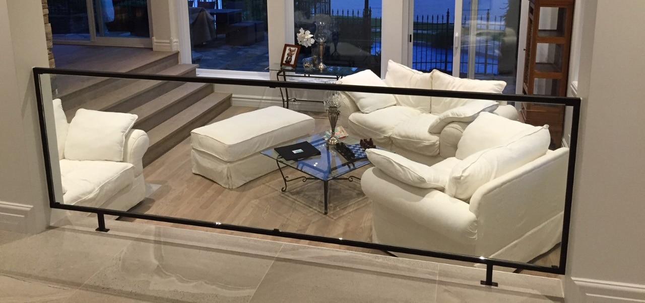rampe intérieur en verre