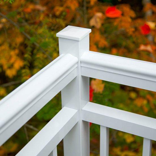 rampe en aluminium blanche