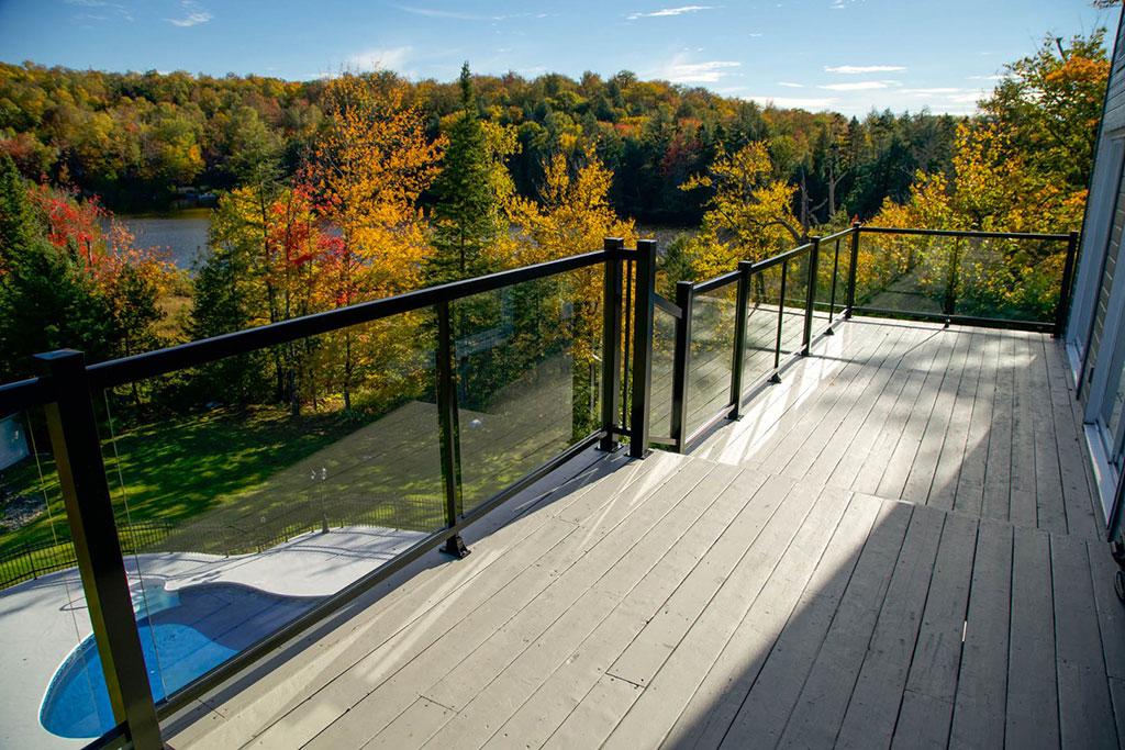 rampe en verre balcon