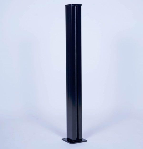 Poteau aluminium pour verre inséré 10mm