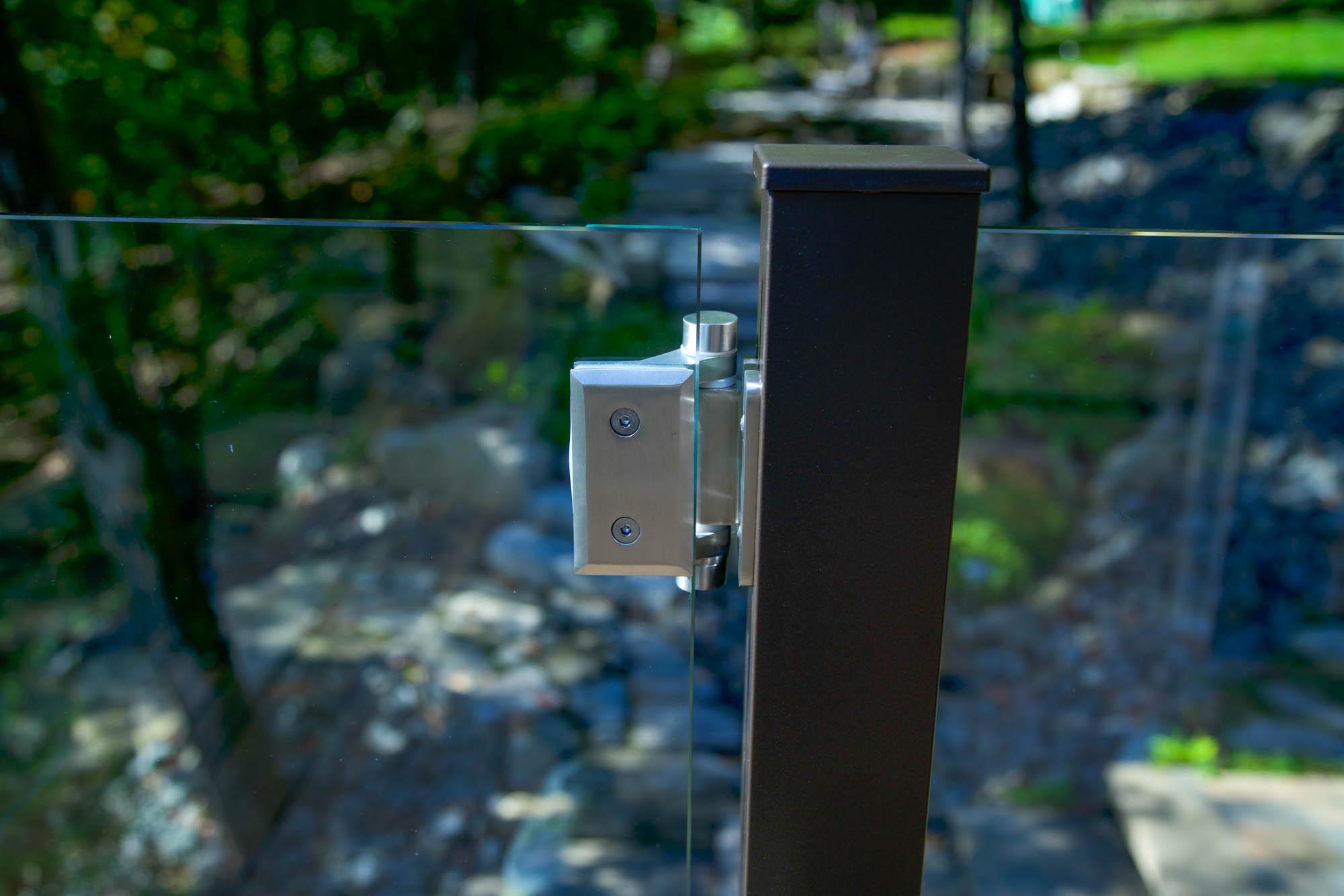 Pentures à ressort pour barrière en verre 8 à 12 mm