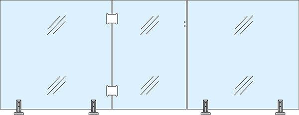 Panneau de verre trempé standard 12 mm