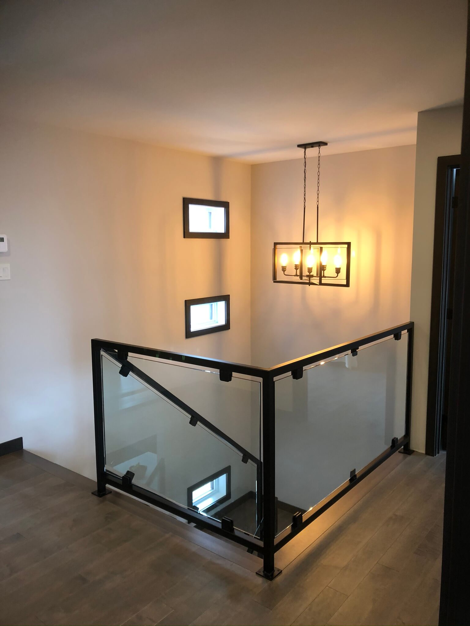 rampe intérieure en verre 01