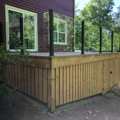 Deck refurbishment in Saint-Sauveur