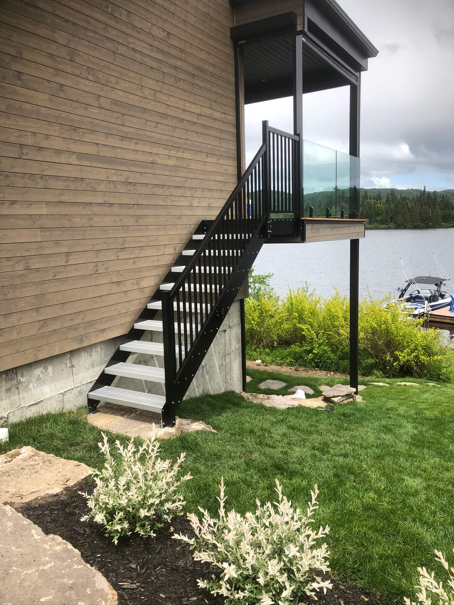 escalier et rampes en aluminium