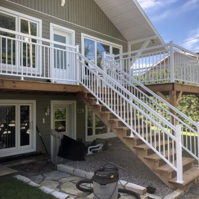 Aluminum railings and handrails in Saint-Adolphe-d'Howard