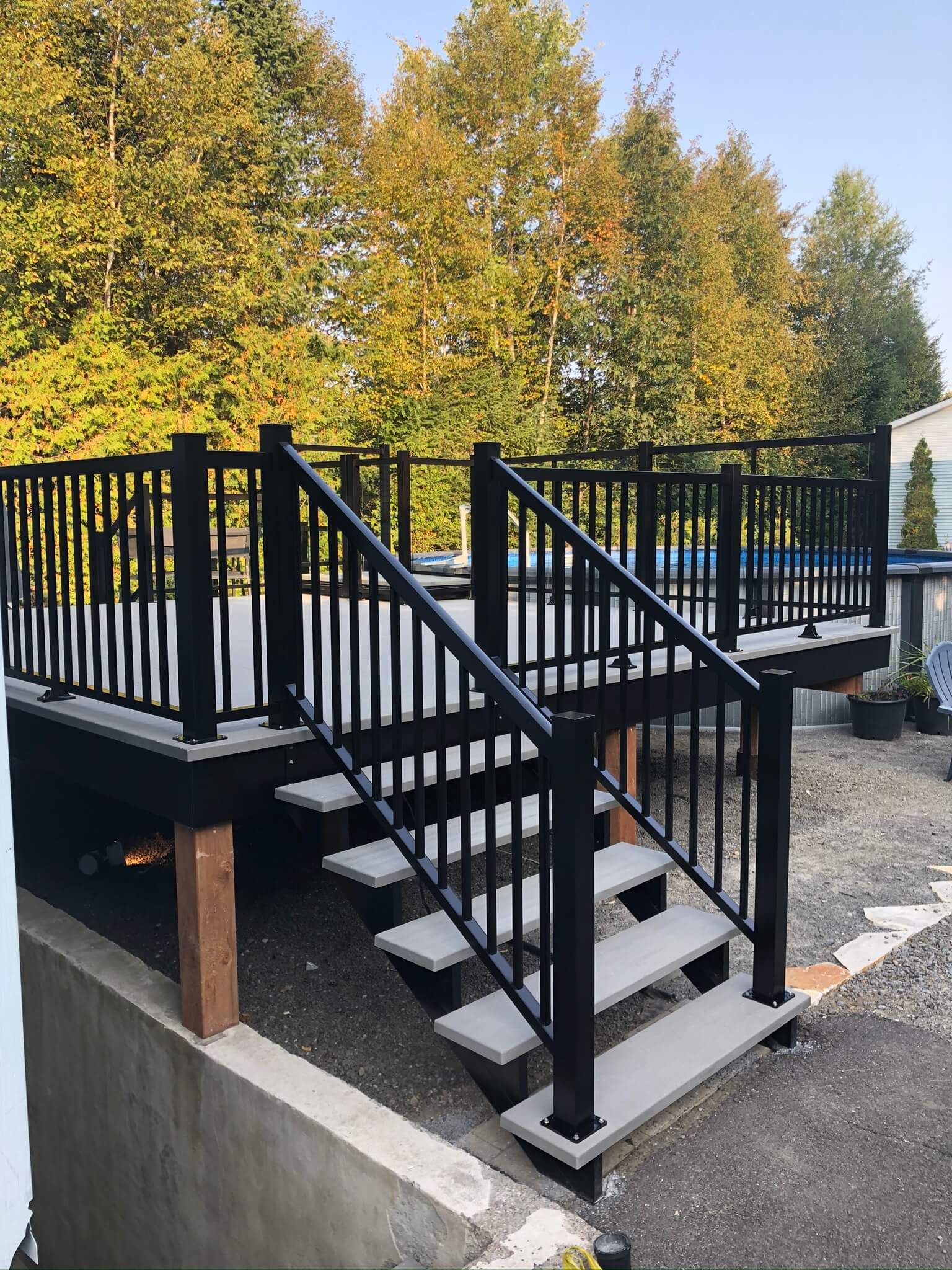 rampe en aluminium noire