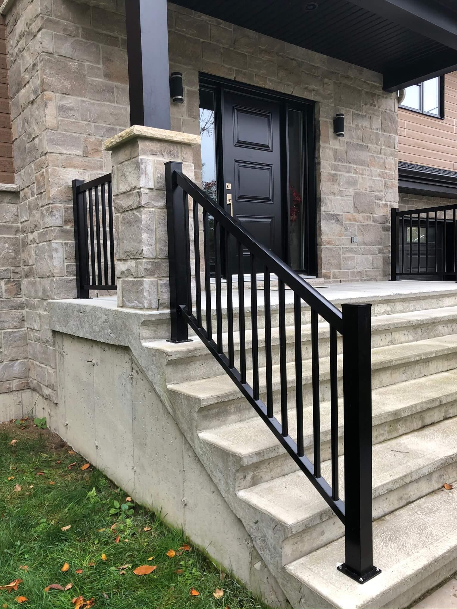 rampe en aluminium escalier en béton 03