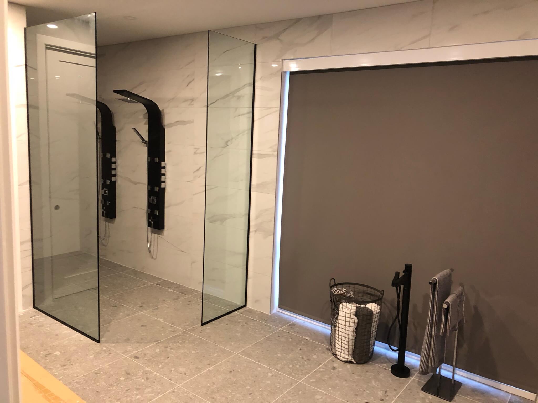 Porte de douche en verre à Lorraine