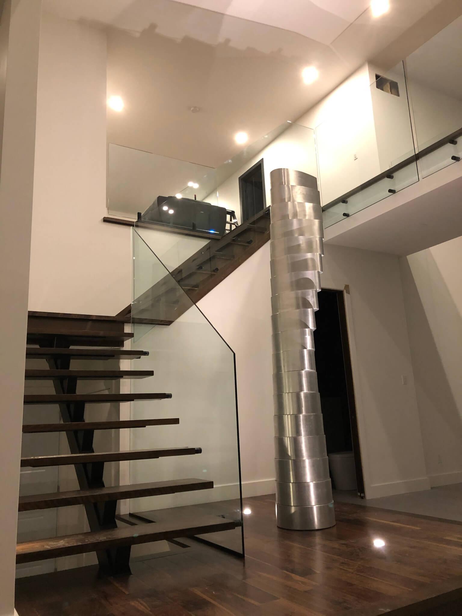 Escalier rampe en verre - Lorraine - 01