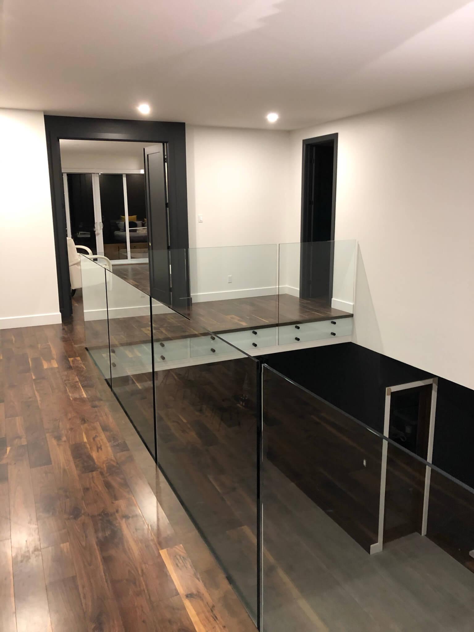Escalier rampe en verre - Lorraine - 04