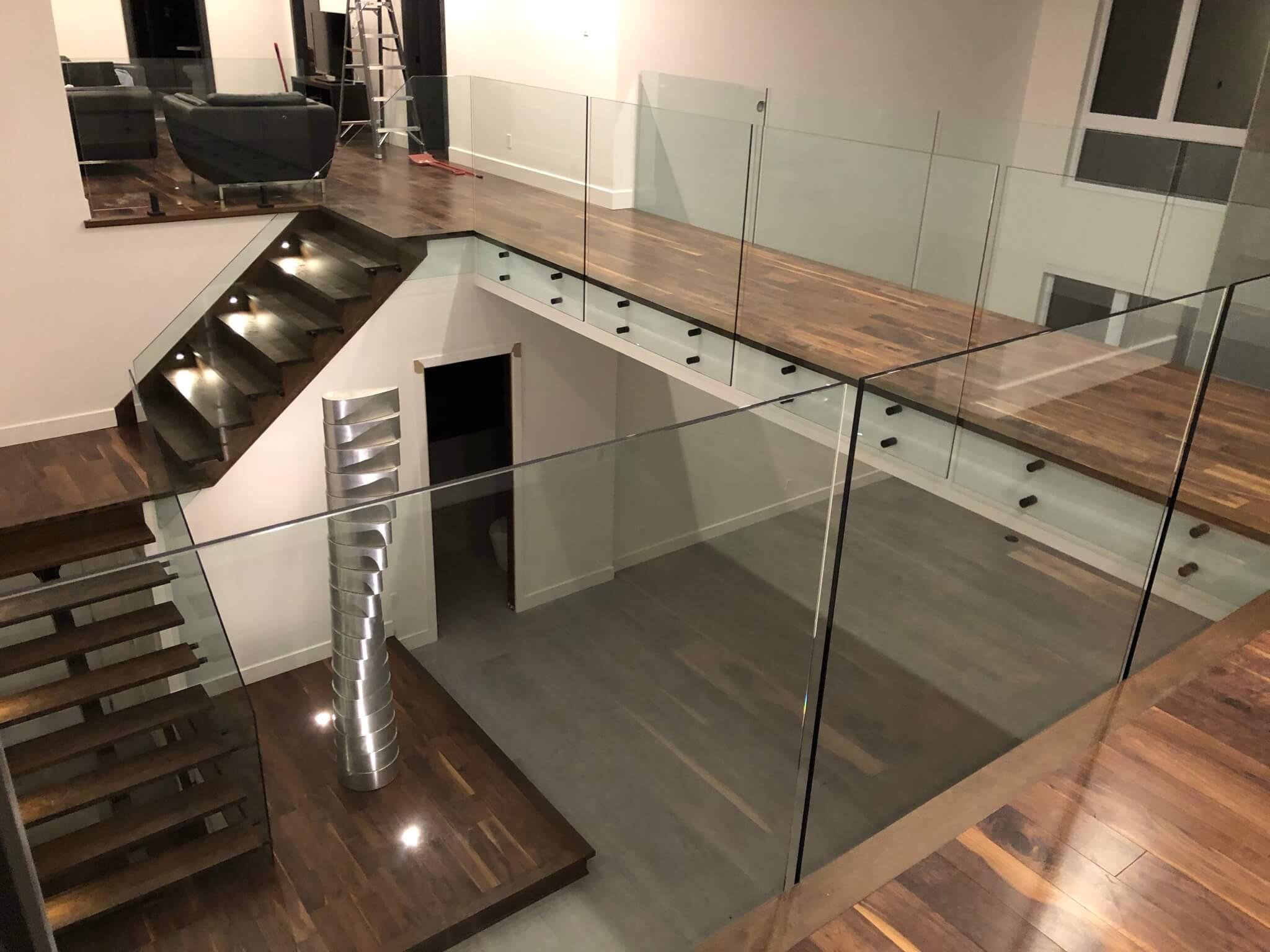 Escalier rampe en verre - Lorraine - 06