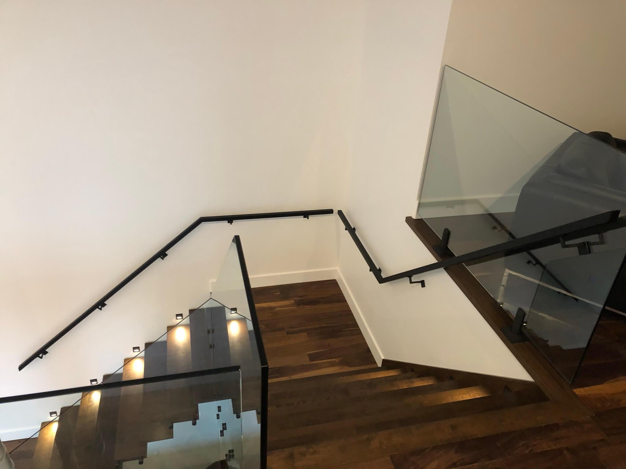 Escalier rampe en verre - Lorraine - 10