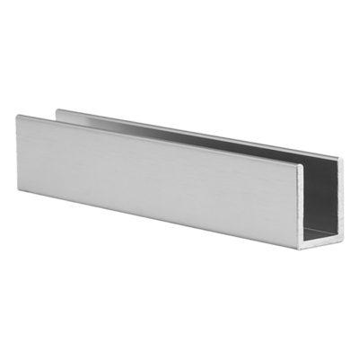 Moulure d'aluminium en U pour verre 10 ou 12 mm