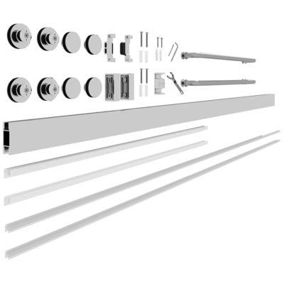 10-mm Glass Sliding Shower Door Kit