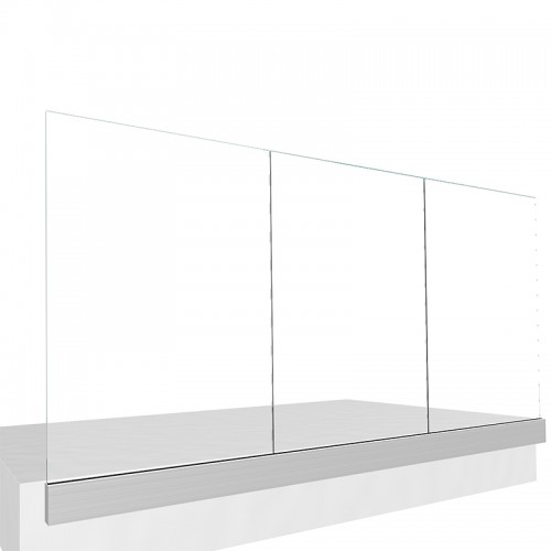 Built-in Rail for Glass Railing 5