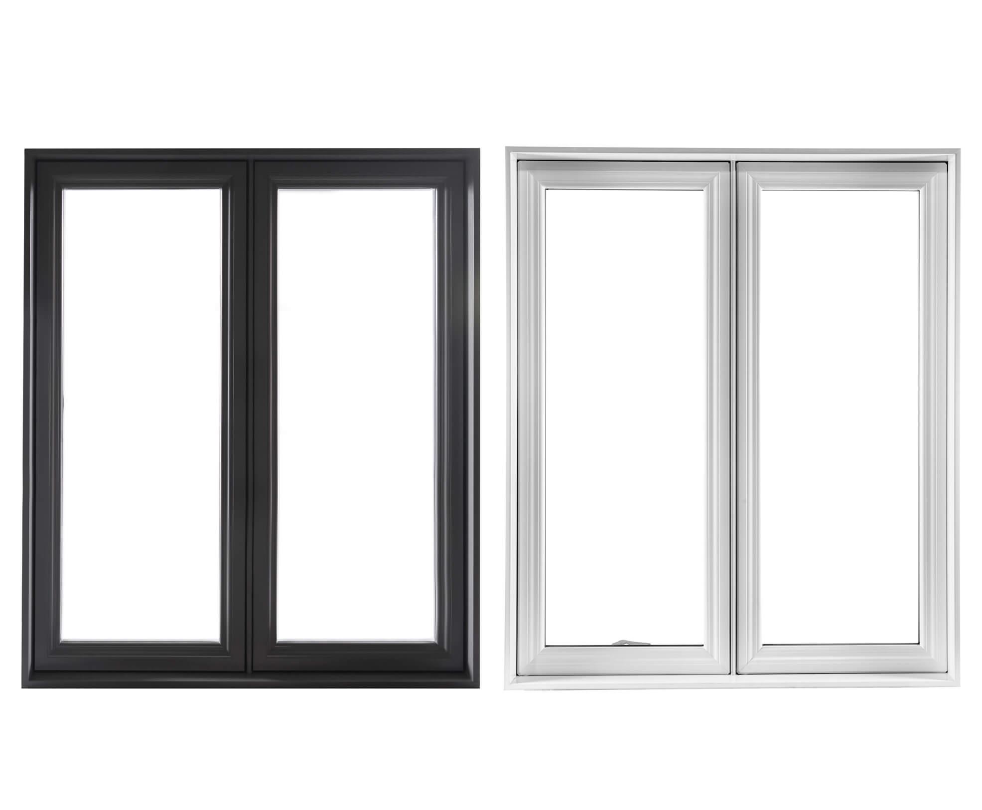 pvc and aluminium casement windows