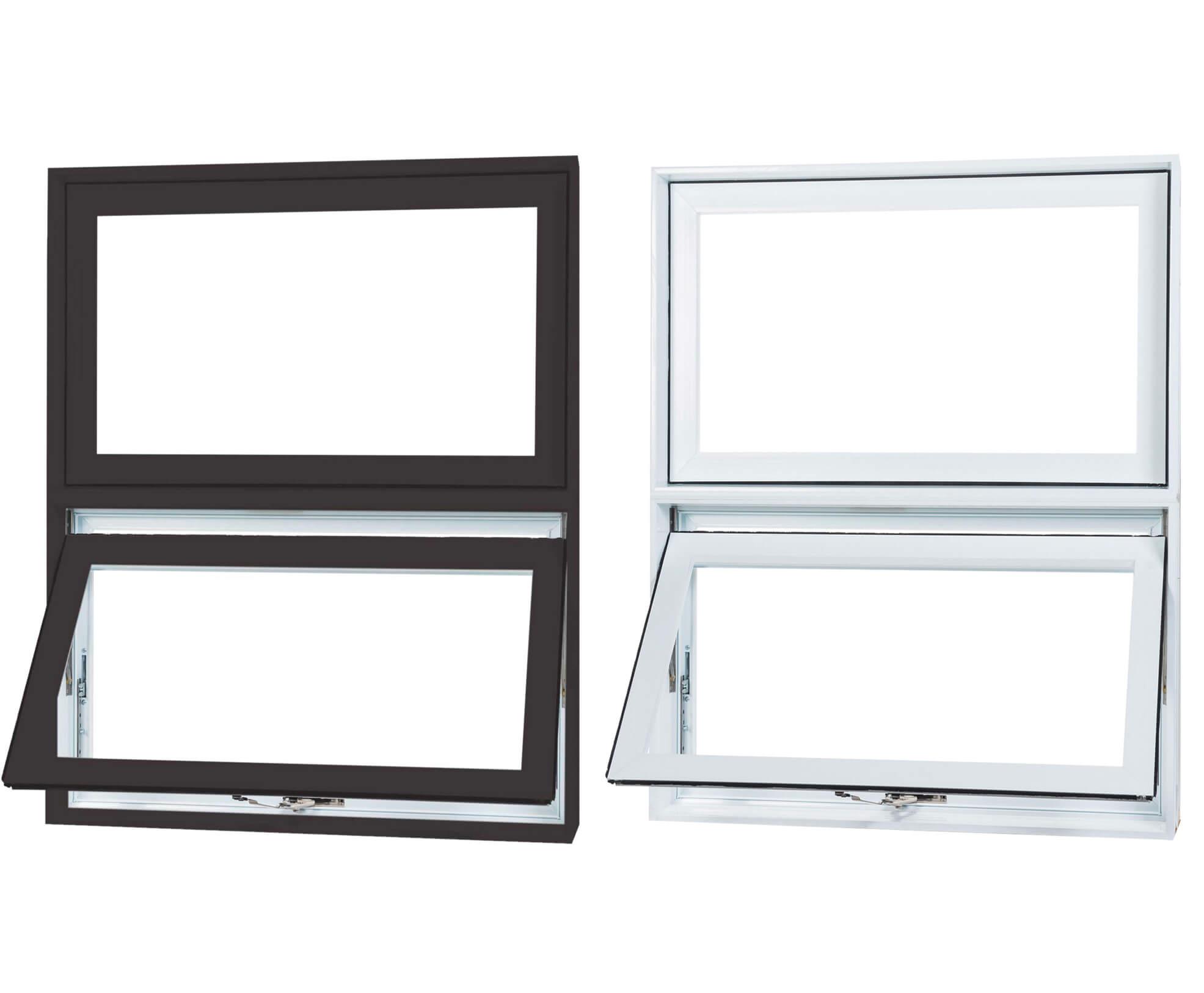 pvc and aluminium awning windows