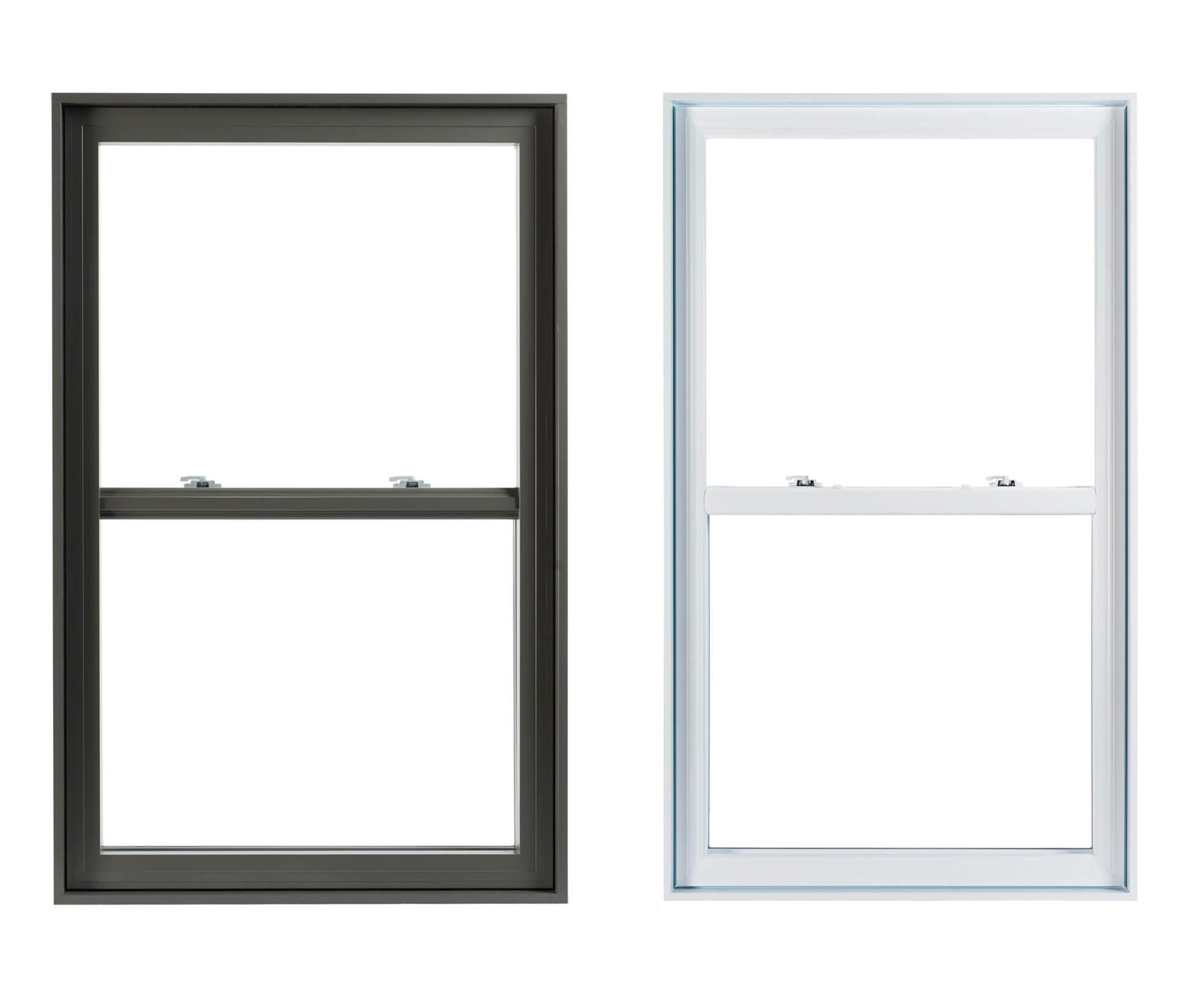 pvc and aluminium double-hung windows