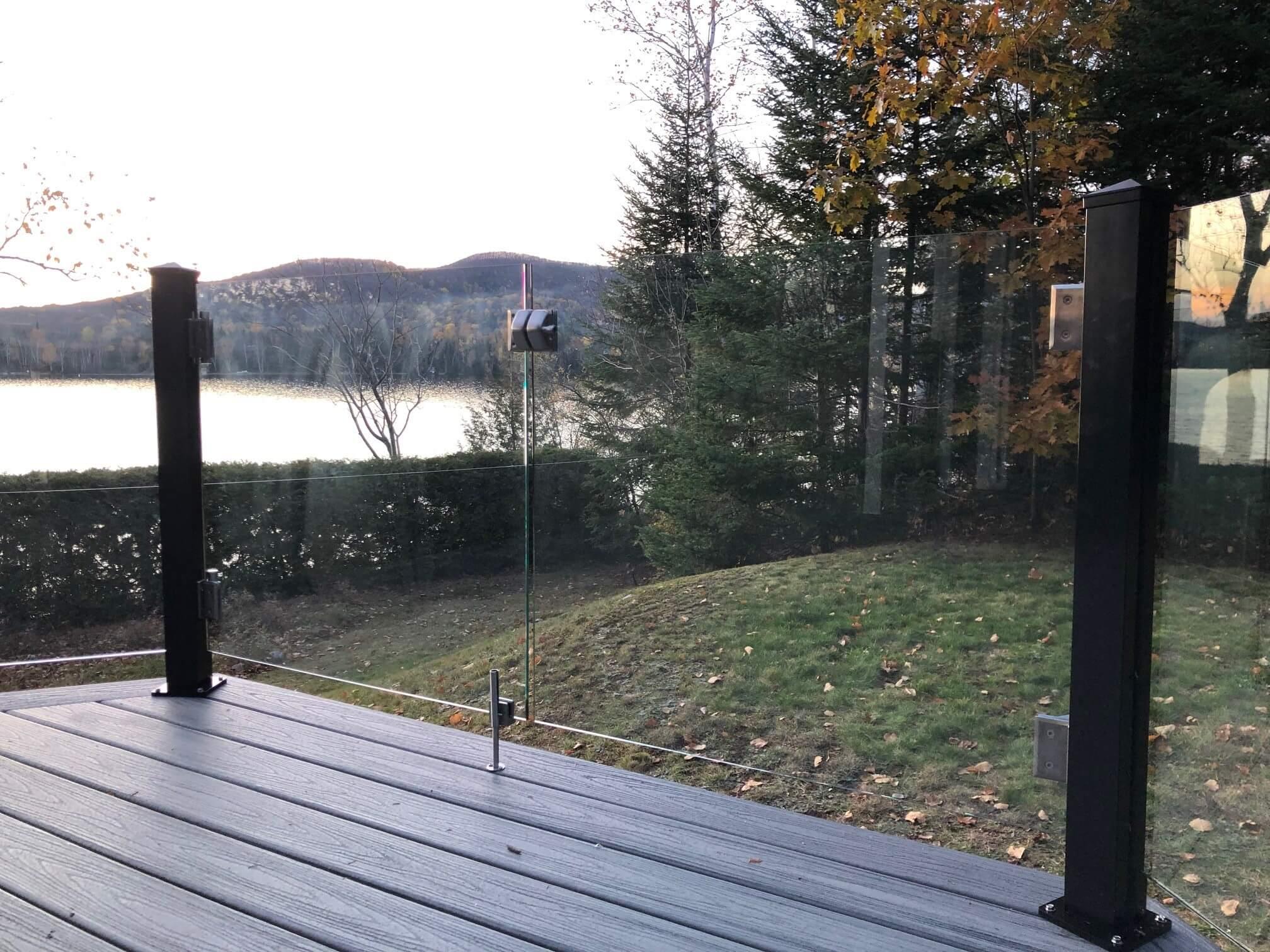 balcony glass door
