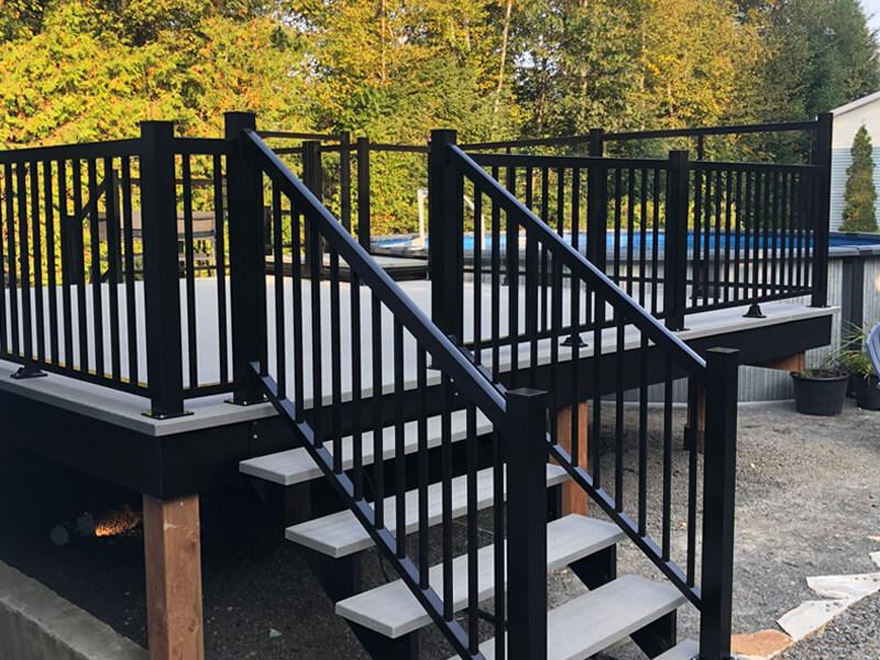 prise de mesures pour balcon, escalier et rampe