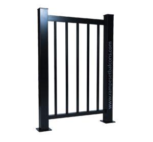 Rampe aluminium avec barreaux