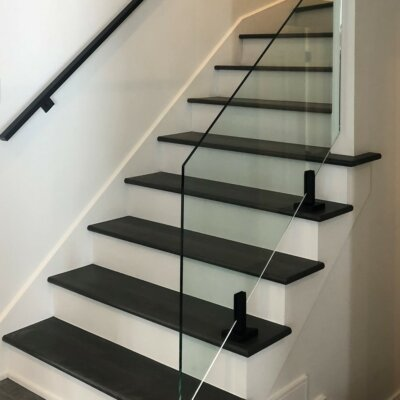 Verre trempé pour descente d'escalier