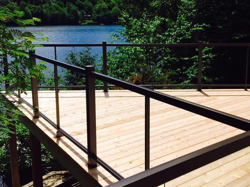 construire une terrasse avec rampe